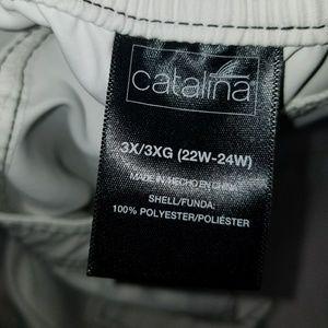 Catalina Swim - {Catalina} white swim/board shorts, sz 3X 22/24